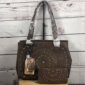 Montana West Bling Bling Concealed Carry Tote NWT